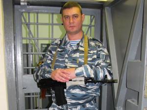 Вооруженный охранник в КХО